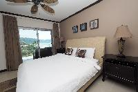 pristine pillows and bed sheets in Costa Rica Ocean View Junior Penthouse luxury apartment