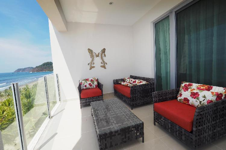 amazing sea view from the terrace of Costa Rica Ocean View Junior Penthouse luxury apartment