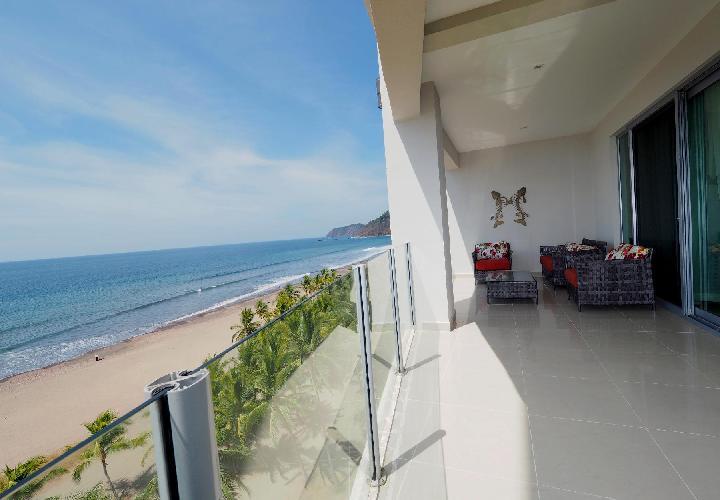 amazing balcony of Costa Rica Ocean View Junior Penthouse luxury apartment