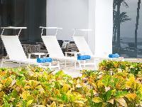 cool sun loungers at Costa Rica Casa del Mar luxury apartment