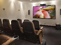cool home theater in Costa Rica Casa del Mar luxury apartment