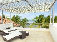 cool patio with canopy at Costa Rica Casa del Mar luxury apartment