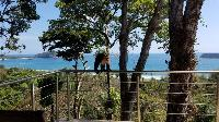 lush and lovely garden of Costa Rica Vista Hermosa luxury apartment