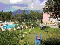 cool garden of Corfu Villa Rosa 1 luxury holiday home, vacation rental