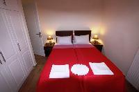 fresh bedroom linens in Corfu Villa Rosa 1 luxury holiday home, vacation rental