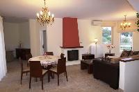cozy dining area in Corfu Villa Rosa 1 luxury holiday home, vacation rental
