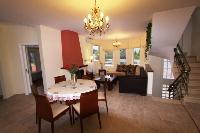 cozy dining room of Corfu Villa Rosa 1 luxury holiday home, vacation rental