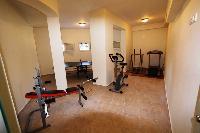 cool gym of Corfu Villa Rosa 1 luxury holiday home, vacation rental