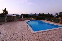 cool swimming pool of Corfu Villa Rosa 1 luxury holiday home, vacation rental