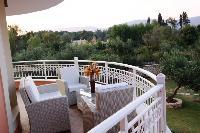 beautiful balcony of Corfu Villa Rosa 1 luxury holiday home, vacation rental