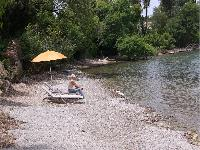 fun beachfront Corfu Villa Rosa 1 luxury holiday home, vacation rental