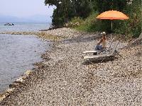 amazing beachfront Corfu Villa Rosa 1 luxury holiday home, vacation rental