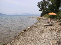 awesome beachfront Corfu Villa Rosa 1 luxury holiday home, vacation rental