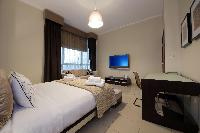 clean and fresh bedroom linens in Dubai Luxury 4 Bedroom Penthouse holiday home