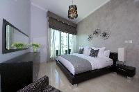 fresh and clean bedroom linens in Dubai Luxury 4 Bedroom Penthouse holiday home