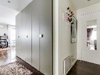 stylish closets in a 1-bedroom Paris luxury apartment