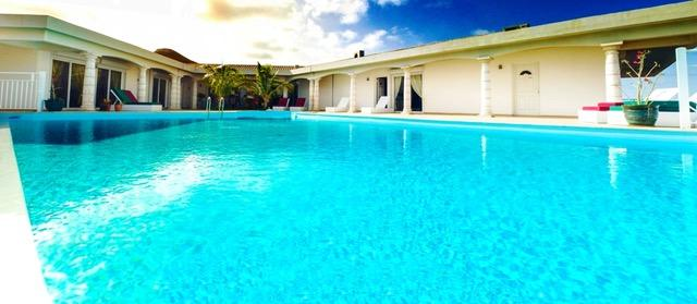 cool swimming pool of Saint Martin Villa Le Must luxury holiday home, vacation rental