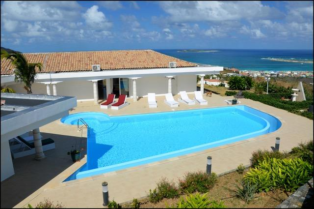 beautiful sea view from Saint Martin Villa Le Must luxury holiday home, vacation rental