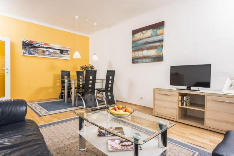 delightful open-plan living room of Vienna - Apartment F21/7 lusury vacation rental and holiday home
