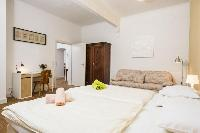 prsitine pillows and bed sheets in Vienna - Apartment 9 lusury vacation rental and holiday home