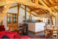delightful barn ceiling of French Alps - Chalet Le Passeu luxury apartment