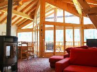 interesting shed ceiling of French Alps - Chalet Le Passeu luxury apartment