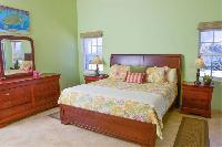 fresh bedroom linens in Bahamas - Sand Castle Exuma luxury apartment