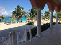 beautiful lanai and patio of Bahamas - Sand Castle Exuma luxury apartment