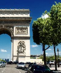 Arc de Triomphe near a modern 3-star Paris Property for sale