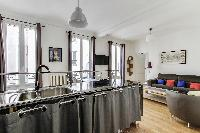 fully functional open kitchen in Paris luxury apartment