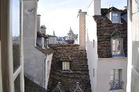 view from the tall window 2-bedroom Triplex Paris apartment