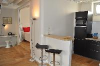 breakfast bar and stools in Paris luxury apartment