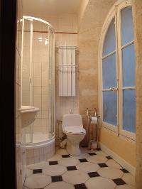 clean and fresh toilet and bath in Paris - Saint André des Arts 1 luxury apartment