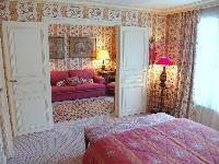 lovely bedroom in Saint Germaine des Prés aux Clercs luxury apartment