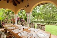 pretty patio of Costa Rica - Casa Campana luxury apartment and holiday home
