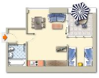 nice floor plan of Vienna - Apartment 2 with Private Terrace luxury holiday home and vacation rental
