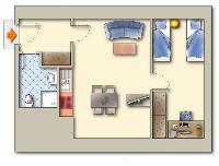 neat floor plan of Vienna - Apartment 3 Attic luxury holiday home and vacation rental