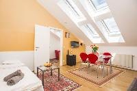 awesome slanted windows of Vienna - Apartment 3 Attic luxury holiday home and vacation rental