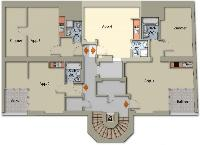 nice floor plan of Vienna - Apartment 4 Bright Studio luxury holiday home and vacation rental