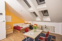 amazing slanted windows of Vienna - Apartment 4 Bright Studio luxury holiday home and vacation renta