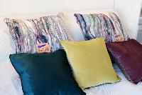pristine pillows and bed sheets in Vienna - Studio Schoenbrunn luxury apartment