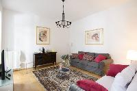 delightful living room of Vienna - 2 Bedroom Patio Apartment luxury holiday home and vacation rental