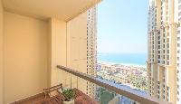 pretty balcony of Dubai - 3 Bedroom With Sea Vie luxury apartment