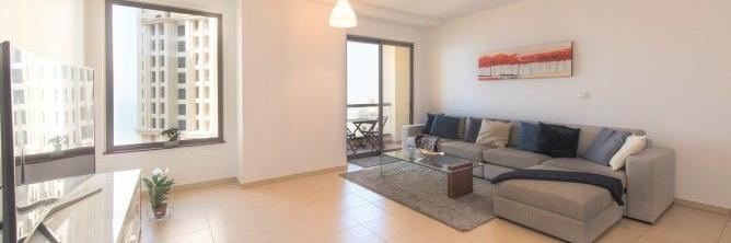 Dubai - Spacious 1 Bedroom with Sea View