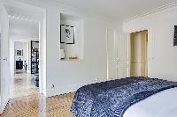 fresh and clean bedding in République - Voltaire luxury apartment