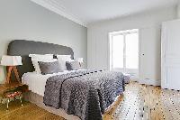 clean and fresh bedding in République - Voltaire luxury apartment