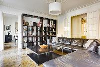 spacious living room of République - Voltaire luxury apartment