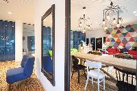 delightful sitting area in Vienna - Studio with Balcony luxury apartment