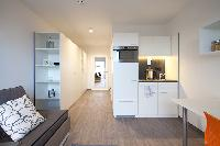 neat interiors of Vienna - Studio with Balcony luxury apartment