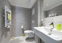 spic-and-span bathroom in Vienna - Studio with Balcony luxury apartment